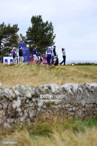 Eddie Pepperell of England tees off on the 8th hole during Day Four of the Scottish Championship presented by AXA at Fairmont St Andrews on October...