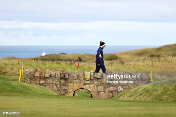 Eddie Pepperell of England walks to the 12th green during Day Three of the Scottish Championship presented by AXA at Fairmont St Andrews on October...