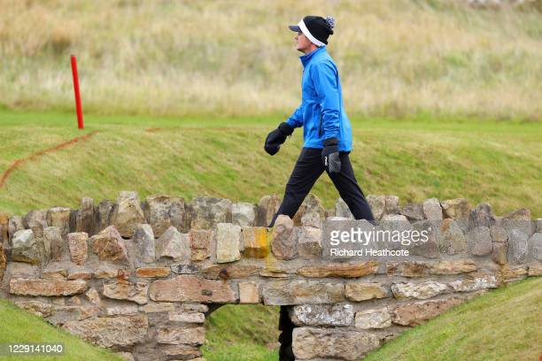 Eddie Pepperell of England walks to the 3rd green during Day Four of the Scottish Championship presented by AXA at Fairmont St Andrews on October 18...