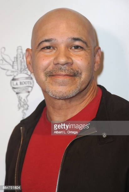 Eddie Perez arrives for the TJ Scott Book Launch For 'In The Tub Volume 2' held at Cinematic Pictures Group Gallery on December 2 2017 in Hollywood...