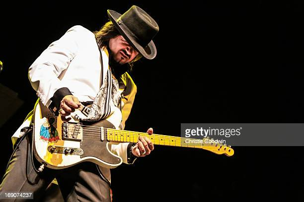 Eddie Perez of The Mavericks performs on stage at the Royal Festival Hall on May 19, 2013 in London, England.