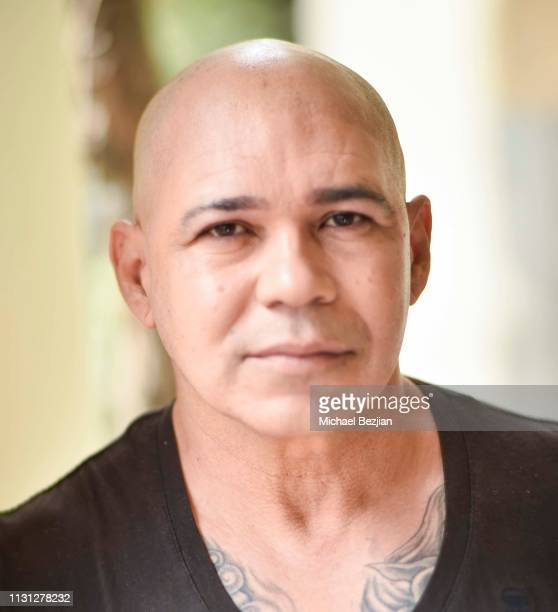 Eddie Perez poses for portrait at Giveback Day at TAP The Artists Project on February 21 2019 in Los Angeles California