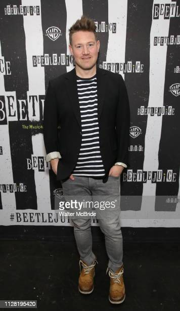 Eddie Perfect attends Broadway's 'Beetlejuice' First Look Photocall at Subculture on February 28 2019 in New York City