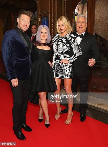 Eddie Perfect Kelly Osbourne Sophie Monk and Ian Dickson arrive ahead of the Australia's Got Talent Grand Final at Capitol Theatre on March 10 2016...
