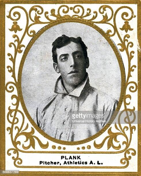 Eddie Plank Philadelphia Athletics baseball card portrait Card set Ramly Cigarettes Sponsor American Tobacco Company