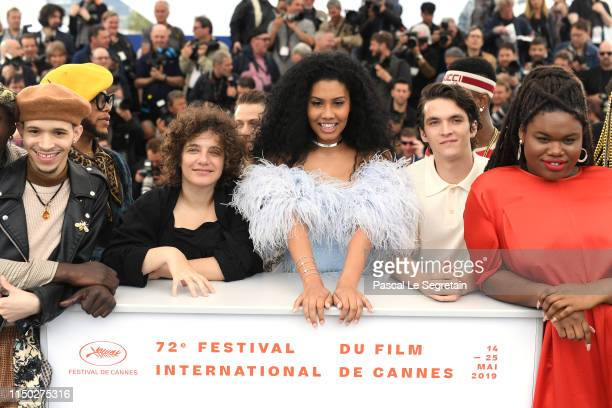 Eddie Plaza Danielle Lessovitz Lenys Bloom Fionn Whitehead and Jari Jones attends the photocall for Port Authority during the 72nd annual Cannes Film...