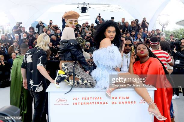Eddie Plaza Leyna Bloom and Jari Jones attend the photocall for Port Authority during the 72nd annual Cannes Film Festival on May 19 2019 in Cannes...