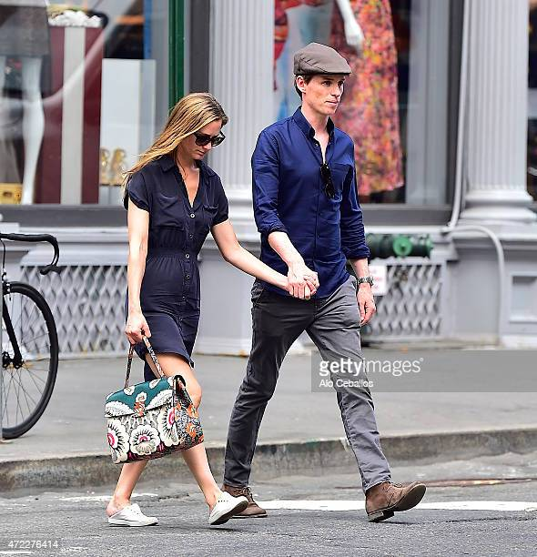 Eddie Redmayne and Hannah Bagshawe are seen in Soho on May 5 2015 in New York City