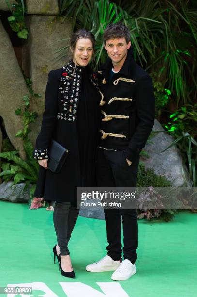 Eddie Redmayne and Hannah Bagshawe arrive for the world film premiere of 'Early Man' at the BFI Imax cinema in the South Bank district of London...