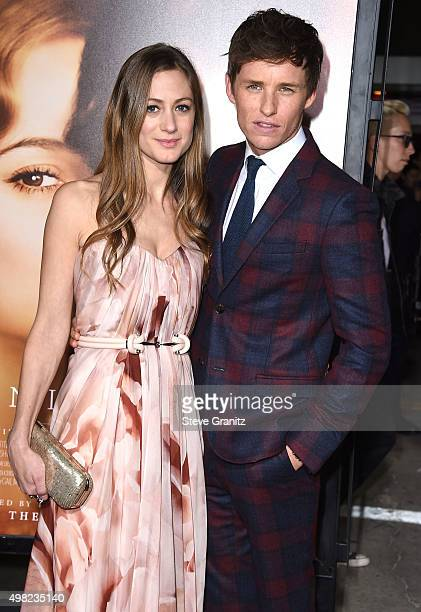 "Eddie Redmayne and Hannah Bagshawe arrives at the Premiere Of Focus Features' ""The Danish Girl"" at Westwood Village Theatre on November 21, 2015 in..."