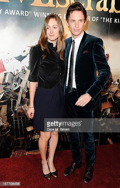 Eddie Redmayne and Hannah Bagshawe attend an after party following the World Premiere of 'Les Miserables' at The Roundhouse on December 5 2012 in...