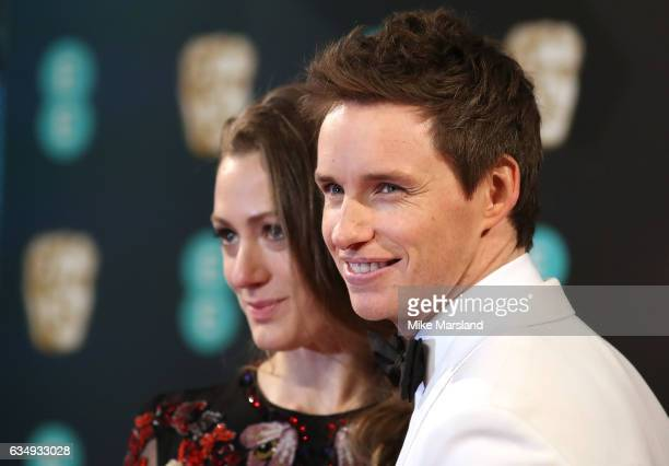 Eddie Redmayne and Hannah Bagshawe attend the 70th EE British Academy Film Awards at Royal Albert Hall on February 12 2017 in London England