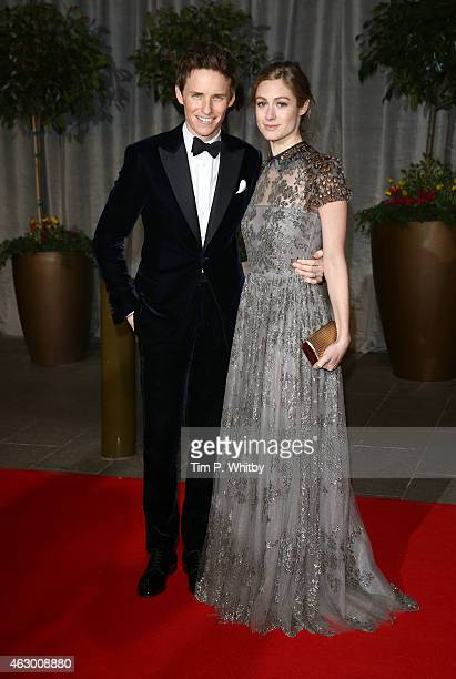 Eddie Redmayne and Hannah Bagshawe attend the after party for the EE British Academy Film Awards at The Grosvenor House Hotel on February 8 2015 in...