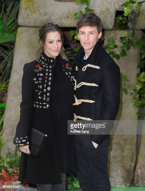 Eddie Redmayne and Hannah Bagshawe attend the 'Early Man' World Premiere at the BFI IMAX on January 14 2018 in London England