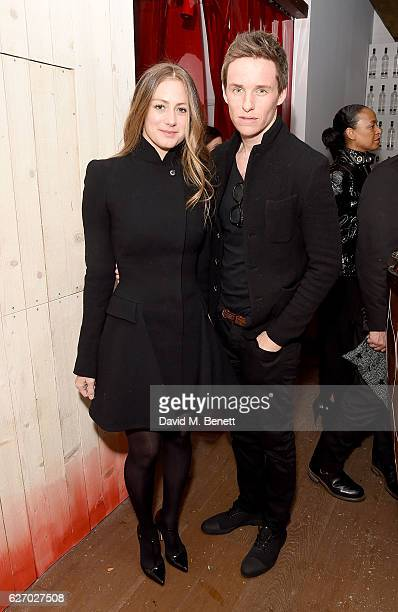 Eddie Redmayne and Hannah Bagshawe attend the launch of 'The Reindeer 2016' an immersive Christmas dining experience by Bistrotheque at Sarabande...
