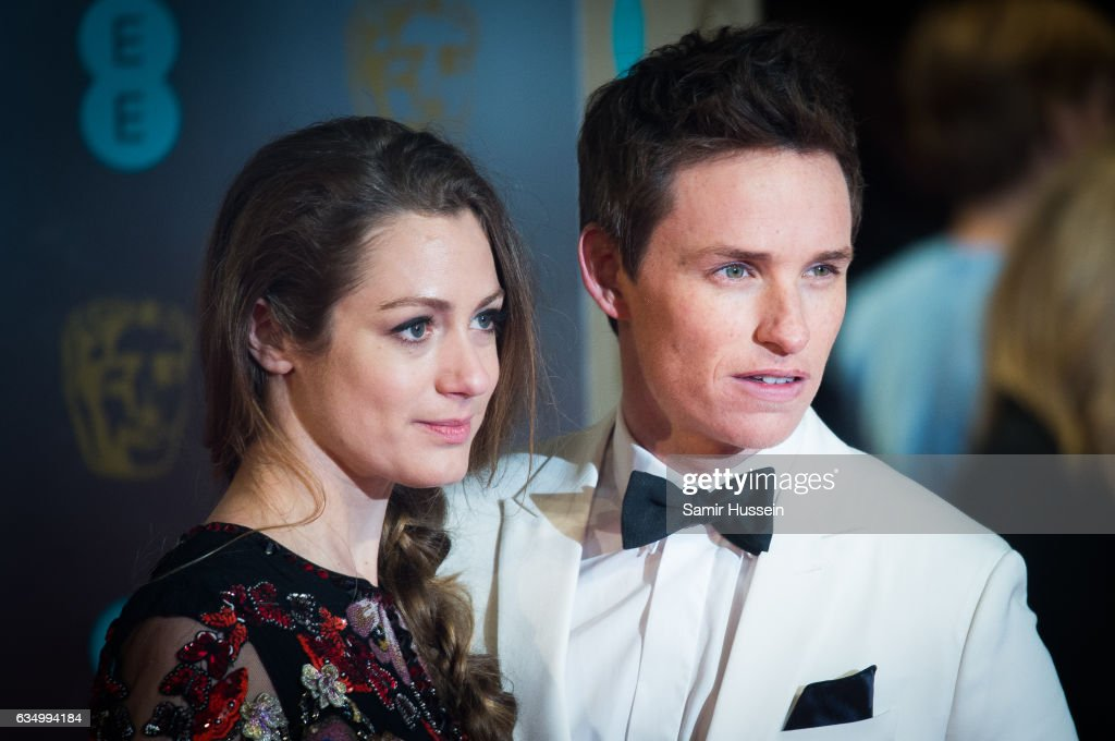 Eddie Redmayne and Hannah Bagshawe attends the 70th EE British Academy Film Awards (BAFTA) at Royal Albert Hall on February 12, 2017 in London, England.