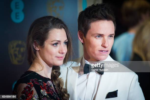 Eddie Redmayne and Hannah Bagshawe attends the 70th EE British Academy Film Awards at Royal Albert Hall on February 12 2017 in London England
