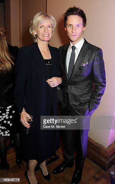 Eddie Redmayne and mother Patricia Redmayne attend the London Evening Standard British Film Awards supported by Moet Chandon and Chopard at the...