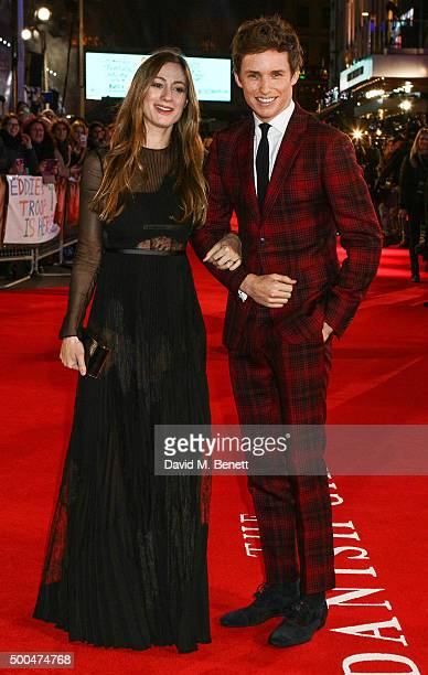 Eddie Redmayne and wife Hannah Bagshawe attend the UK Premiere of 'The Danish Girl' at Odeon Leicester Square on December 8 2015 in London United...
