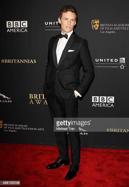 Eddie Redmayne arrives at the BAFTA Los Angeles Jaguar Britannia Awards held at The Beverly Hilton Hotel on October 30, 2014 in Beverly Hills,...