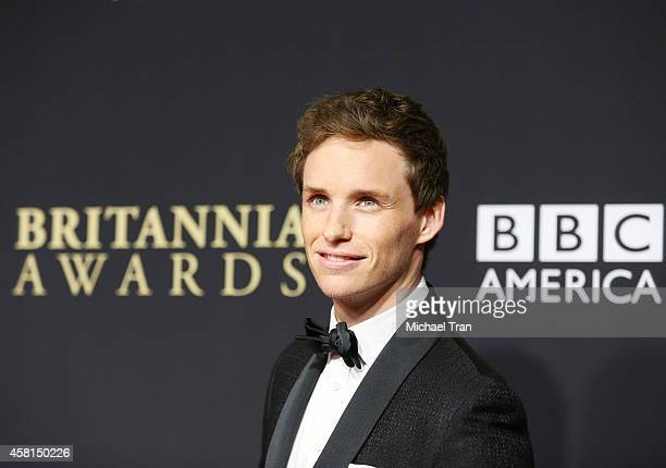 Eddie Redmayne arrives at the BAFTA Los Angeles Jaguar Britannia Awards held at The Beverly Hilton Hotel on October 30 2014 in Beverly Hills...