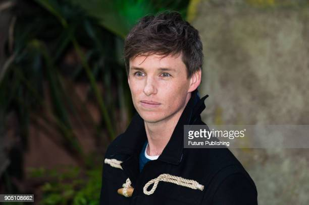 Eddie Redmayne arrives for the world film premiere of 'Early Man' at the BFI Imax cinema in the South Bank district of London January 14 2018 in...