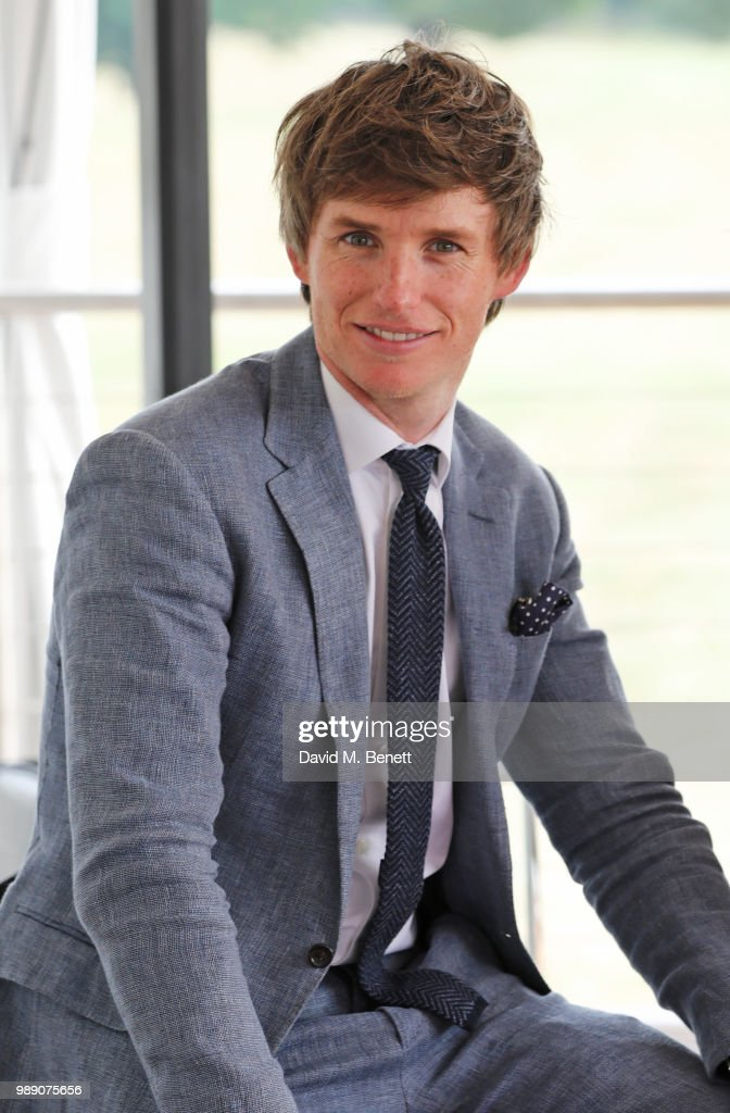 Eddie Redmayne attend the Audi Polo Challenge at Coworth Park Polo Club on July 1, 2018 in Ascot, England.
