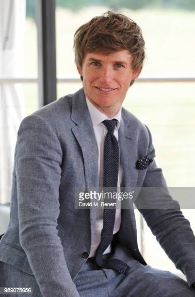 Eddie Redmayne attend the Audi Polo Challenge at Coworth Park Polo Club on July 1 2018 in Ascot England