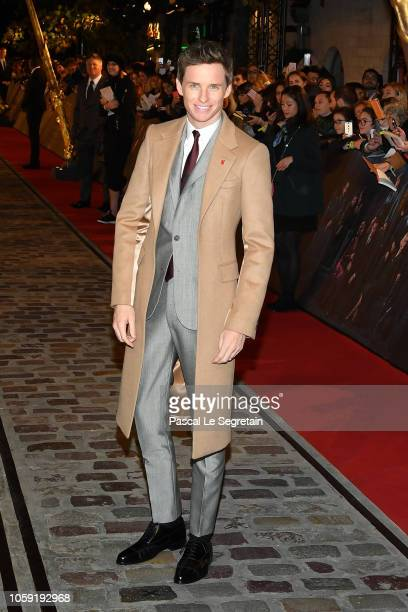 Eddie Redmayne attends Fantastic Beasts The Crimes Of Grindelwald World Premiere at UGC Cine Cite Bercy on November 8 2018 in Paris France