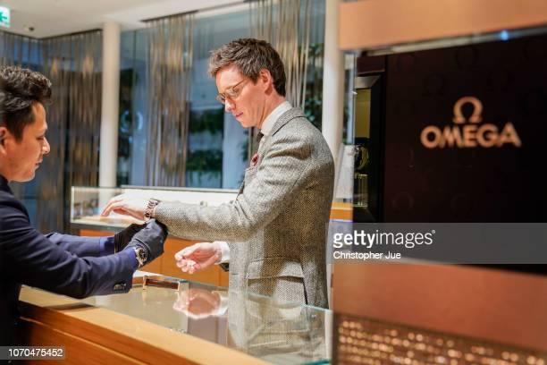 Eddie Redmayne attends OMEGA Fantastic Night on November 20 2018 in Tokyo Japan