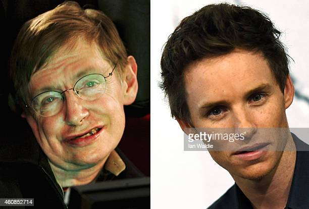 In this composite image a comparison has been made between Stephen Hawking and actor Eddie Redmayne Actor Eddie Redmayne will reportedly play...