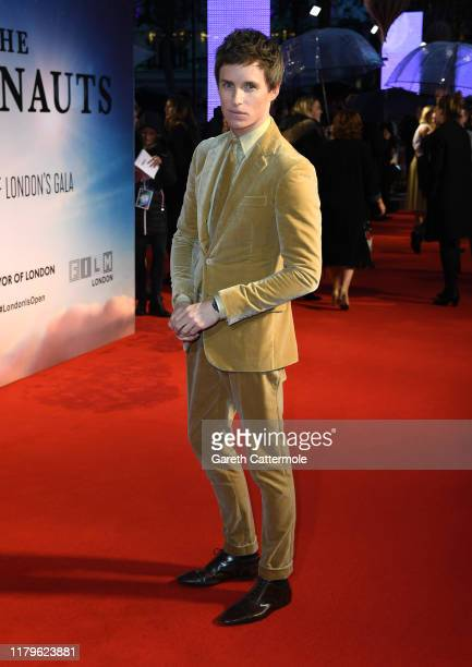 Eddie Redmayne attends The Aeronauts UK Premiere during the 63rd BFI London Film Festival at the Odeon Luxe Leicester Square on October 07 2019 in...