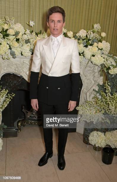Eddie Redmayne attends the British Vogue and Tiffany Co Celebrate Fashion and Film Party at Annabel's on February 10 2019 in London England