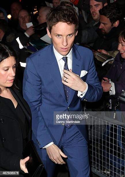 Eddie Redmayne attends the Charles Finch CHANEL PreBAFTA party at Annabel's on February 7 2015 in London England