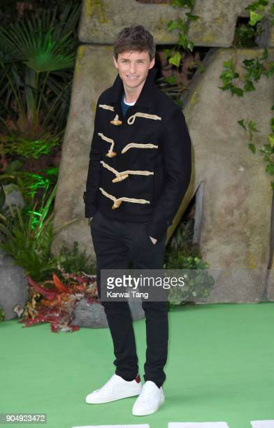 Eddie Redmayne attends the 'Early Man' World Premiere at the BFI IMAX on January 14 2018 in London England