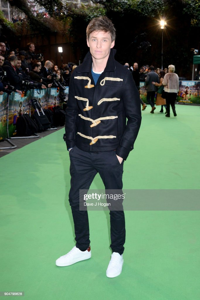 Eddie Redmayne attends the 'Early Man' World Premiere held at BFI IMAX on January 14, 2018 in London, England.