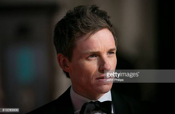 Eddie Redmayne attends the EE British Academy Film Awards at The Royal Opera House on February 14 2016 in London England