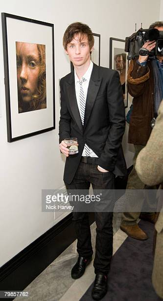 Eddie Redmayne attends the exhibition of Vanity Fair Portraits preview party hosted by Graydon Carter and Christopher Bailey at the National Portrait...