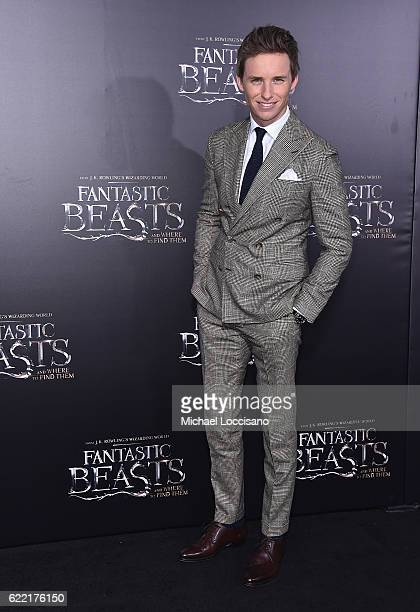 Eddie Redmayne attends the Fantastic Beasts And Where To Find Them World Premiere at Alice Tully Hall Lincoln Center on November 10 2016 in New York...