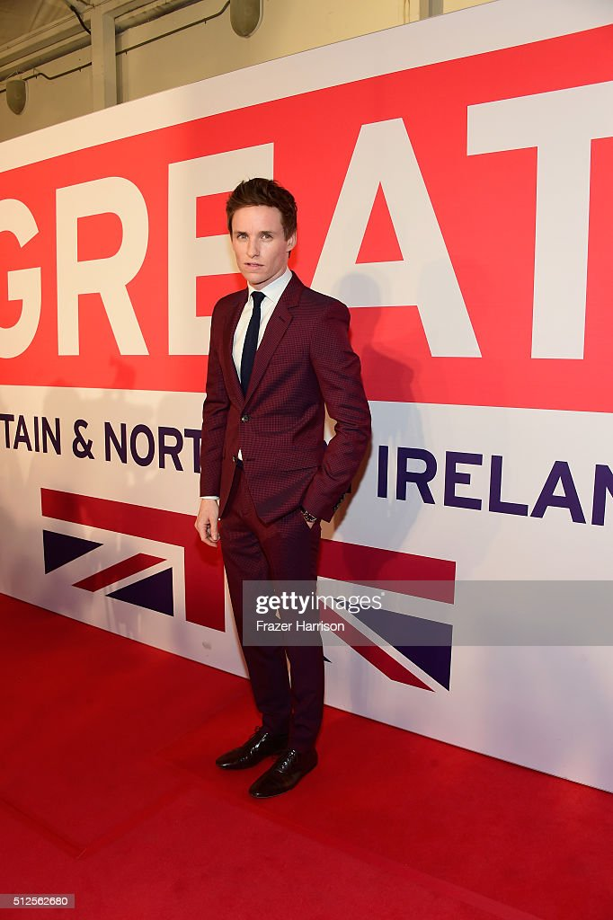 Eddie Redmayne attends the Film is GREAT Reception at Fig & Olive on February 26, 2016 in West Hollywood, California.