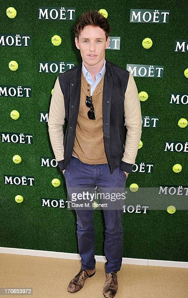 Eddie Redmayne attends The Moet & Chandon Suite at The Aegon Championships Queens Club finals on June 16, 2013 in London, England.