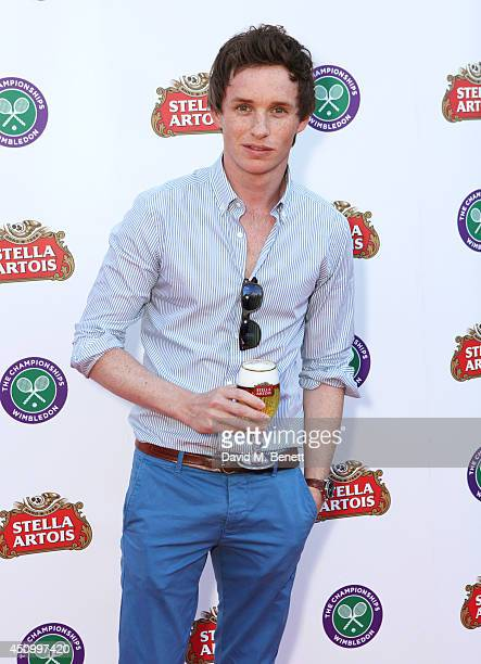 Eddie Redmayne attends the Stella Artois Wimbledon 2014 official launch party at Cannizaro House on June 21 2014 in London England Stella Artois is...
