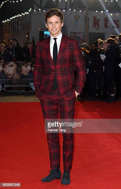 Eddie Redmayne attends the UK Film Premiere of The Danish Girl on December 8 2015 in London United Kingdom