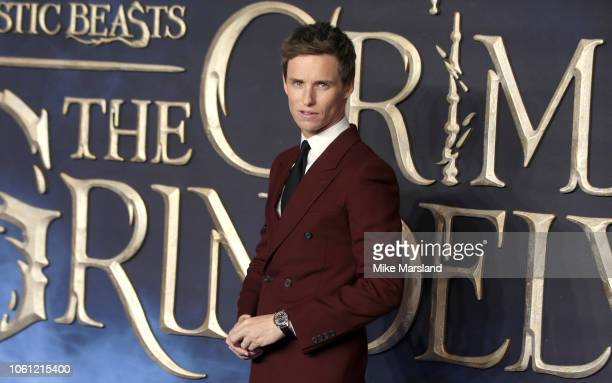 Eddie Redmayne attends the UK Premiere of Fantastic Beasts The Crimes Of Grindelwald at Cineworld Leicester Square on November 13 2018 in London...