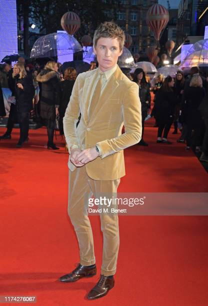 Eddie Redmayne attends the UK Premiere of The Aeronauts during the 63rd BFI London Film Festival at Odeon Luxe Leicester Square on October 7 2019 in...