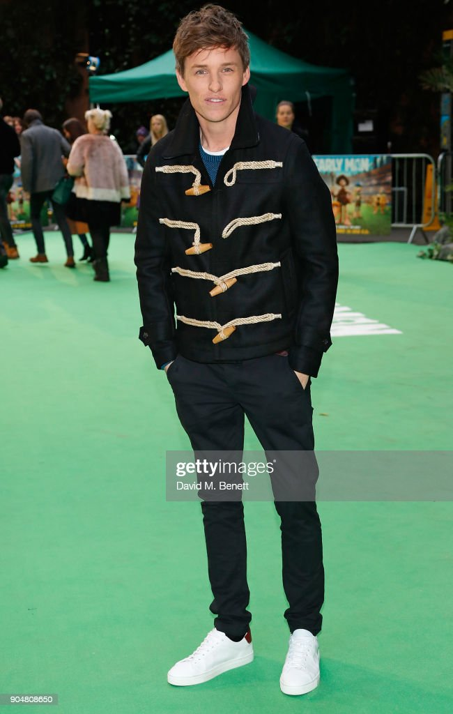 Eddie Redmayne attends the World Premiere of 'Early Man' at BFI IMAX on January 14, 2018 in London, England.