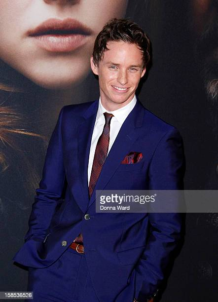 Eddie Redmayne attends the world premiore of 'Les Miserables' at Ziegfeld Theatre on December 10 2012 in New York City