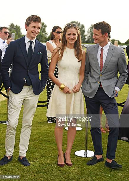 Eddie Redmayne Hannah Bagshawe and Matt Smith attend the Audi Polo Challenge 2015 at Cambridge County Polo Club on July 3 2015 in Cambridge England