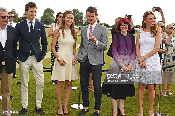 Eddie Redmayne Hannah Bagshawe Matt Smith Megan Mullally and Tonya Meli attend the Audi Polo Challenge 2015 at Cambridge County Polo Club on July 3...