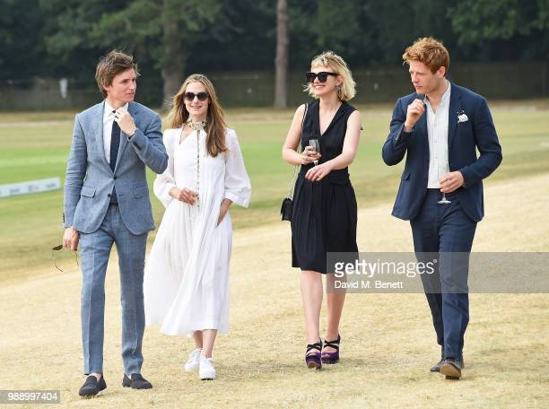 Eddie Redmayne, Hannah Redmayne, Imogen Poots and James Norton attend the Audi Polo Challenge at Coworth Park Polo Club on July 1, 2018 in Ascot,...